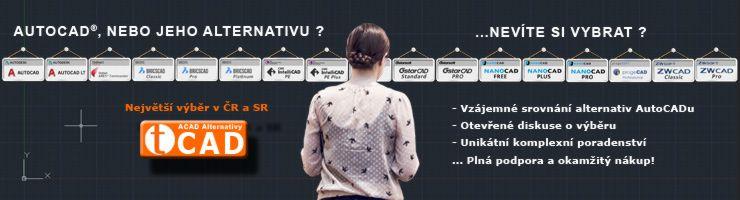 Největší výběr alternativ AutoCADu v ČR a SR